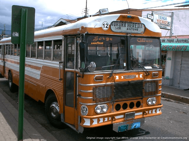 Heredia Bus in Costa Rica